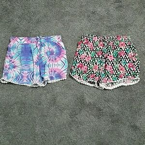 Two pairs of girls shorts.